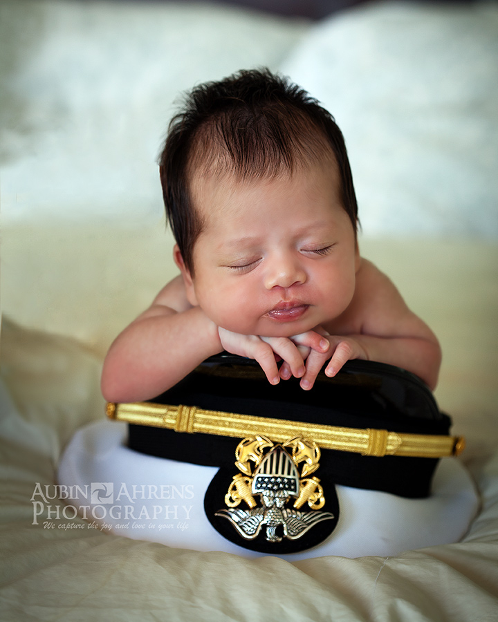 newborn in military cover