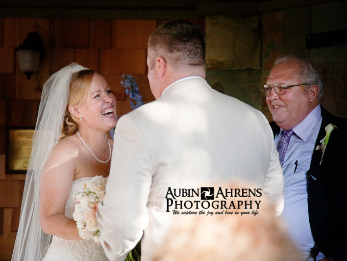 Bride and groom say I do at Bremerton Yacht Club