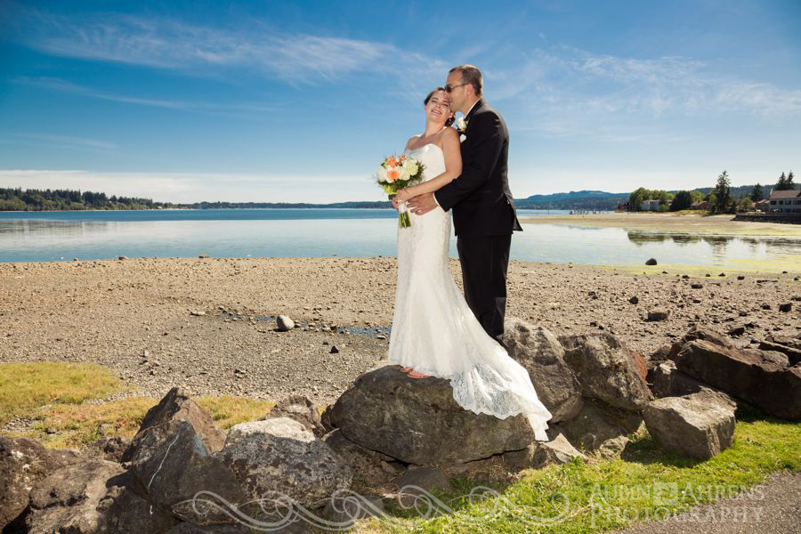 Silverdale bride and groom portrait